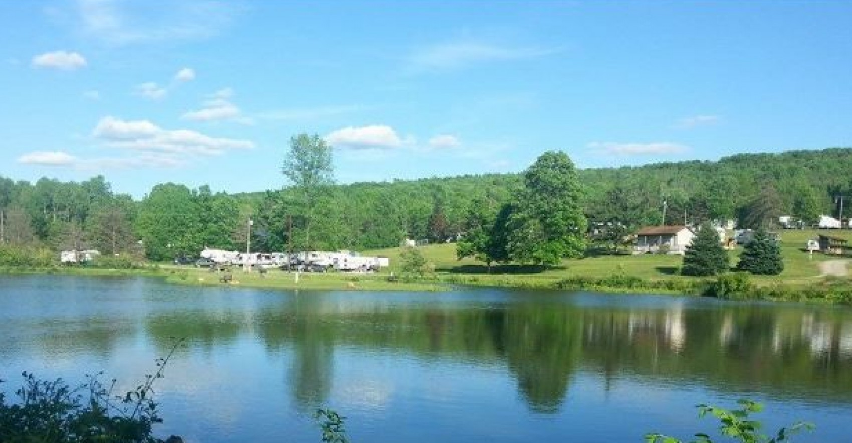 Finger Lakes Campground from across the pond